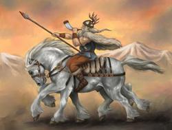 Sleipnir und Odin